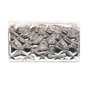 Chanel Mademoiselle Patent Wallet Silver -L